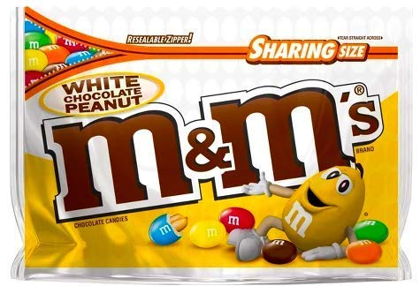 NEW M&M's White Chocolate Peanut Candies Limited edition- 9.6oz (1)