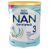 NAN OPTIPRO 3 - Preparado lácteo infantil, fórmula de crecimiento en polvo, a partir de los 12 meses, 800g