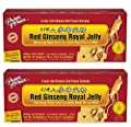 Red Ginseng Royal Jelly, Royal Jelly Ginseng, Prince of Peace Ginseng Royal Jelly Vials, Royal Red Ginseng Bottles, 0.34 oz per Vial, Box of 30 Vials, 2 Pack (60 Vials Total).