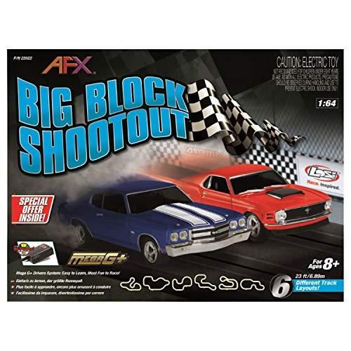 AFX/Racemasters Big Block Shootout Set, 23ft, AFX22022