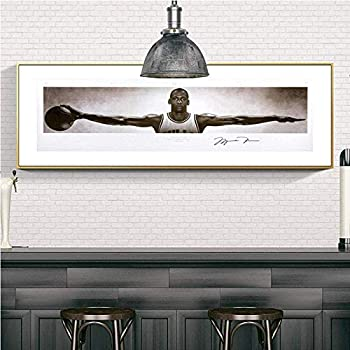 WDLZB Artwork Michael Jordan Wings Posters Wall Art Canvas Paintings for Living Room Modern Canvas Prints Wall Art Decoration  No Frame 19.7x59inch 50x150