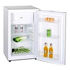Réfrigérateur avec compartiment congélateur A++ (90 litres) Congélateur 4 étoiles et éclairage intérieur à LED, décontaillage automatique, étagères en verre, compartiment à légumes, porte-porte