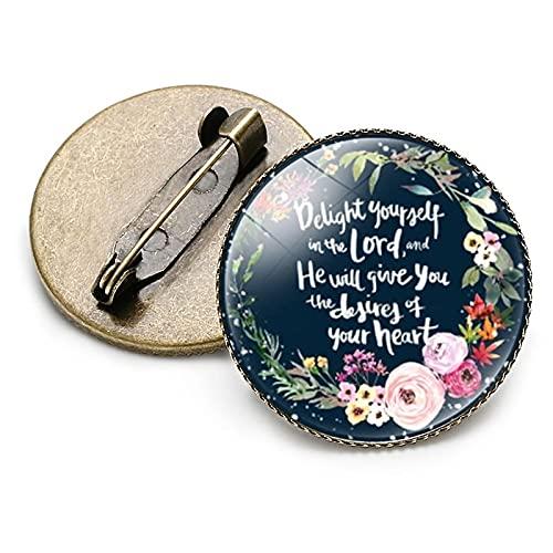 Broches clásicos de la Biblia cristiana para niña, niño, mujer, corona de bendición, letra de mariposa, accesorios de oración