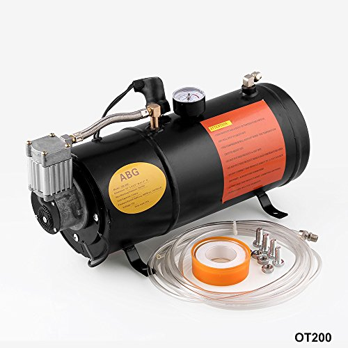 cciyu 12V Loud Air Horn 4 Trumpet Air Horn Kit with 150 PSI Air Compressor Air Tank Replacement for Train Car Truck Boat RV
