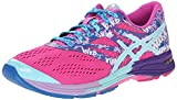 ASICS Women's Gel-Noosa TRI 10 Running Shoe, Pink Glow/Aqua Splash/Fuchsia, 5 M US