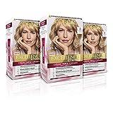 L'Oréal Paris Excellence Creme Tinte Permanente Triple Cuidado 100% Cobertura Canas Tono 8 Rubio Claro - Pack 3 unidades