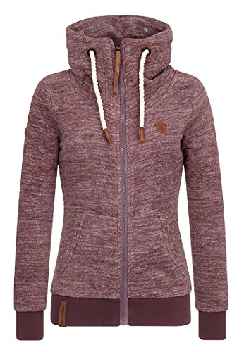 Naketano Damen Zipped Jacket Redefreiheit? IV, aubergini melange, Gr. S