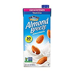 Almond Breeze Dairy Free Almondmilk, Unsweetened Vanilla, 32 Fluid Ounce