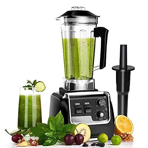 Professional Blender for Kitchen, 2200 Watt Smoothies Blender, Blender with Variable Speed for Frozen Fruit, Crushing Ice, Veggies, Shakes and Smoothie 64 oz Container & 48000 RPM for Home Commercial