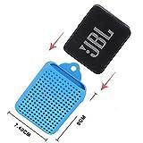 Bolsa de Viaje de Silicona para JBL GO 2 Altavoz inalámbrico con Bluetooth por GUBEE (Azul)