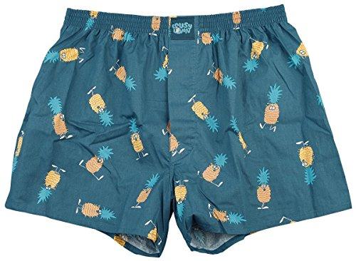 Lousy Livin Herren Unterwäsche Ananas Boxershorts, blue dive, Medium