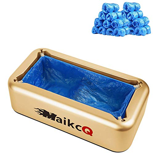Automatic Shoe Covers Dispenser, Portable Shoe Covers Machine with 100 Pcs Disposable Plastic Water Resistant Shoe Covers Perfect for Home, Shop, Office and Lab (Luxury)
