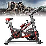 HQPCAHL Bicicleta Estática de Spinning Profesional, Ajustable Resistencia, Pantalla LCD, Bicicleta Fitness de Gimnasio Ejercicio con Volante de Inercia, Sillín Ajustable, Máx 150kg