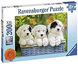 Ravensburger Puzzle, Tres amables Cachorros, Puzzle 200 Piezas XXL, Puzzles para Niños, Edad Recomendada 8+, Rompecabeza de Calidad
