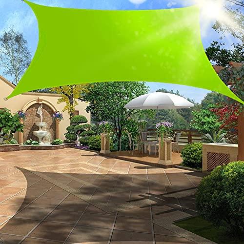 Toldo rectangular resistente al agua para toldo toldo rectangular a prueba de viento toldo resistente a los rayos UV con kit de herrajes para cochera de patio al aire libre verde 5mx7m /