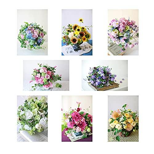 ポストカード 花の写真 8枚(8種)+おまけ1枚 セット 花屋オリジナル 花 ブーケ 花束 絵葉書 アレンジメント POSTCARD おしゃれ 絵はがき (21-09-Set4)