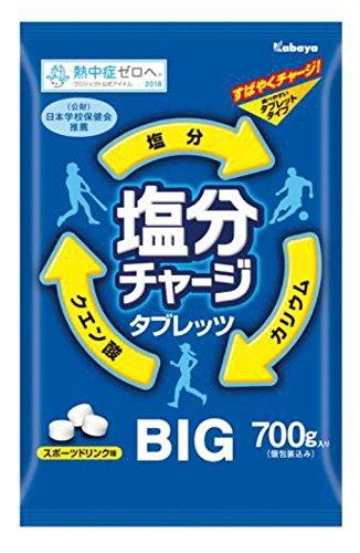カバヤ食品 塩分チャージ タブレッツ BIG 大袋 700g プラス「塩レモン味90g」