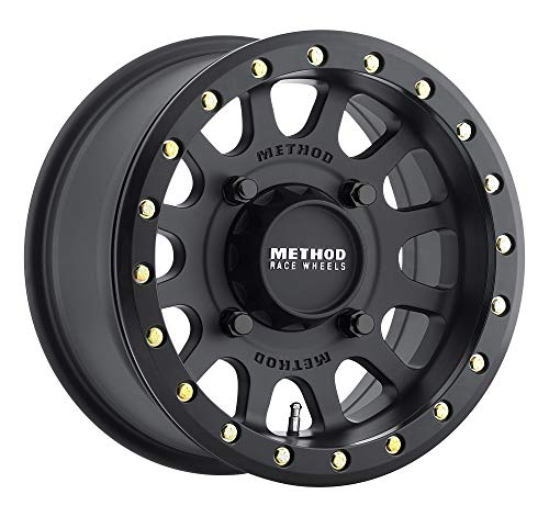 Method Race Wheels 401 UTV Beadlock Matte Black 15x6' 4x156', 53mm offset 5.4' Backspace, MR40156046551B