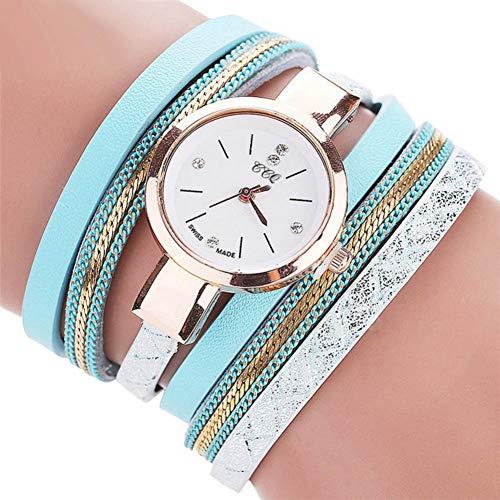 FDIJM Art- Und Weisefrauen-Uhr-Armband-Geschenk-Gold -Uhr-Armbanduhr-Frauen Kleiden Ledernes Beiläufiges Uhr-Armband, Mg