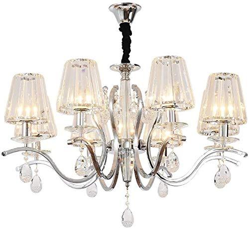 Araña moderna minimalista sala de estar lámpara cálida romántica europea sala de estar araña de cristal ambiente hogar restaurante luz lámparas110-240 V lámpara Rollsnownow