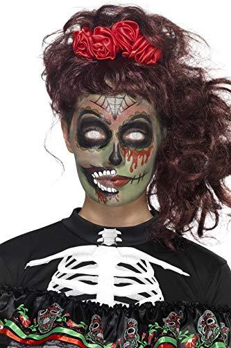 Smiffys Kit maquillage zombie Jour des morts, Aqua, Multicolore, avec transferts, peintu