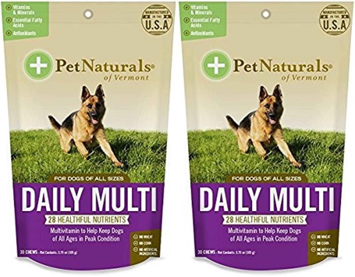 Daily Multi for Dogs, Multivitamin Chew Size Pack of 2