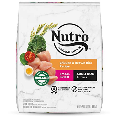NUTRO Natural Choice Small Breed Adult Dry Dog Food, Chicken & Brown Rice Recipe Dog Kibble, 13 lb. Bag