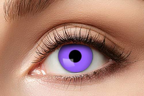 Eyecatcher - Farbige Kontaktlinsen, Farblinsen, Jahreslinsen, 2 Stück, Halloween, Karneval, Fasching, Gothic, lila