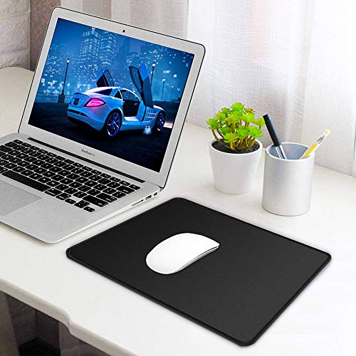 Mouse Pad, Large Gaming Mouse Pad with Double Stitched Edges, 14.9 x 11.7 inches Premium-Textured & Waterproof Mousepad, Nonslip Natural Rubber Base Mouse pad for Laptop,Computer, Office, Home, Black Photo #6
