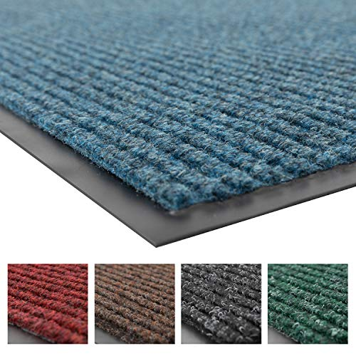 Notrax 109 Brush Step Entrance Mat, for Home or Office, 3' X 6' Slate Blue
