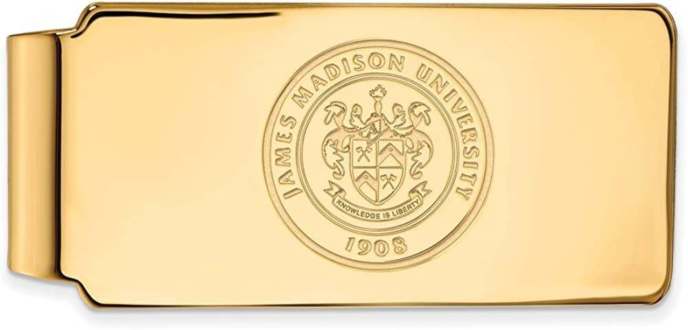 Solid Great interest 10k Yellow Gold Official Madison James Slim Rare Bus University