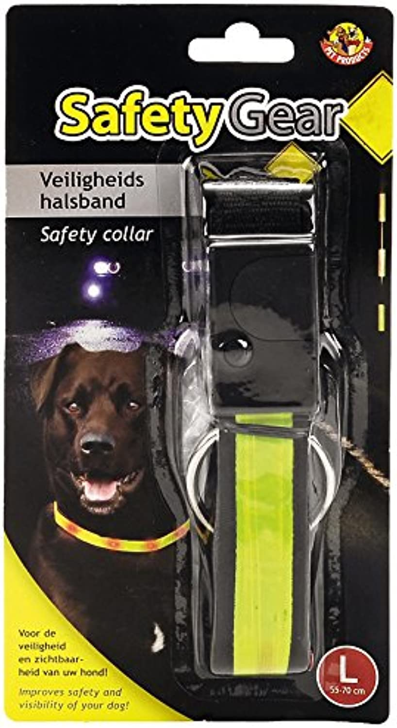 BEEZTEES Safety Gear Safety Collar with Lamp, 40  55 cm x 25 mm, Yellow