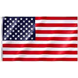 Free Walker American Flag 3x5 FT,Premium Nylon US Flags with Bright Vibrant Color,UV Fade Resistant and Brass Grommets for Indoors and Outdoors,Durable USA Flag for Outside(Breeze Style)