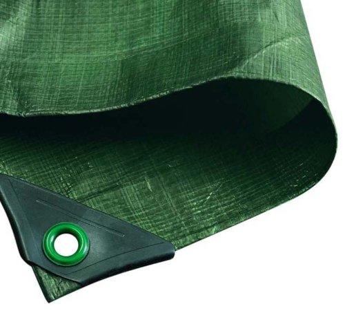NOOR Abdeckplane Hobby 120g/m² Grün I 5 x 6 m I Allzweckplane für Schutz vor Witterung I Ideal geeignet für den Garten I UV-stabilisiert, beidseitig beschichtet, wasserfest, abwaschbar & langhaltig