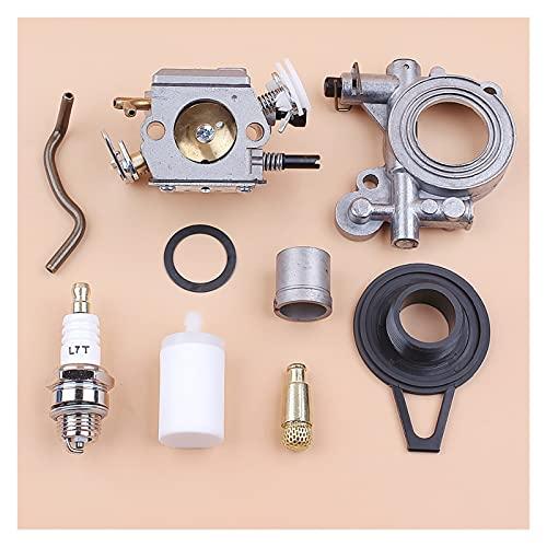 Kit de la manguera del engranaje de la bomba de aceite del carburador para H-USQVARNA 362 365 371 372 372xp Piezas de motosierra Walbro HD-12 HD-6 Carb