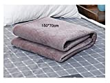 Chang Electric Heating Blanket Winter Washable 220V Bedroom Heater Rug - for Body Bed Warmer Heated Pads 15070CM,Grey