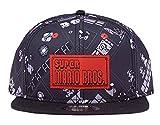 Nintendo Gorra de béisbol Super Mario Bros, Negro, Talla única Unisex Adulto