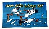 Fahne Geiles Wetter Hier Möwe NEU 90 x 150 cm Flaggen