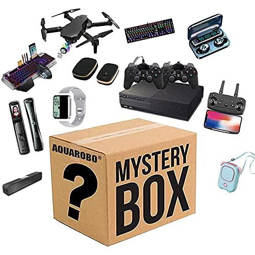 DJXLMN Mystery Surprise Lucky Gift Bag, Cajas Equipadas con Productos electrónicos, Regalos Lucky Wish sin Abrir para Cualquier Posible Objeto Aleatorio