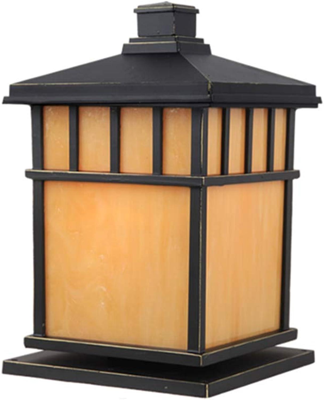 Auenwandleuchten Spalte beleuchtet Hauptwandlampe-Landhauswandlampen-Spaltenlampe wasserdichte Gartenlampen-Landschaftslampe Spaltenlampen-Spaltenlampe im Freien ( Farbe   schwarz , Größe   202032cm )