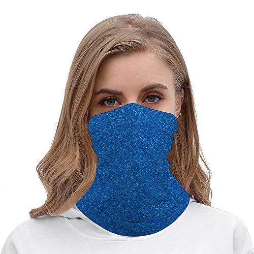 PotteLove Shiny Glitter, Sparkling Glitter Glow - Blue Unisex Multifunctional Bandana Neck Gaiter Tube Headwear headkerchief, Motorcycle Face Mask Bandana Headband for Women Men Face Scarf