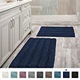 Best Bath Rugs - Navy Blue Bathroom Rugs Slip-Resistant Extra Absorbent Soft Review