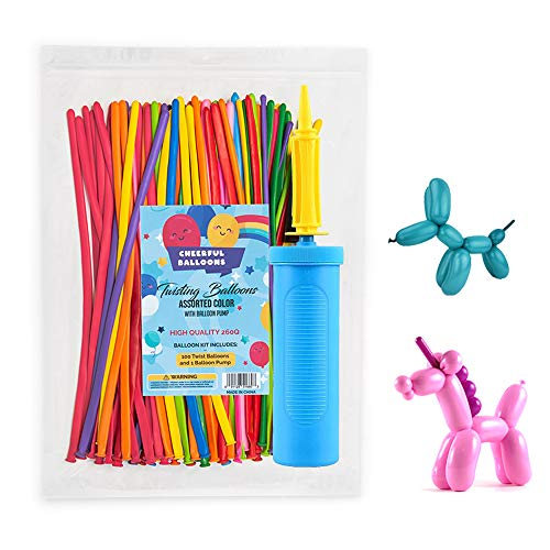 Twisting Balloons In Assorted Colors 100 pcs 260Q Balloon Animal Art Kit For Entertaining Or Decorating At Parties