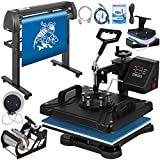 Mophorn Heat Press Machine 12x15 inch 5in1 T-Shirt Heat Press and Vinyl Cutter 28 inch Plotter Machine 720mm Paper Feed Vinyl Cutter Plotter