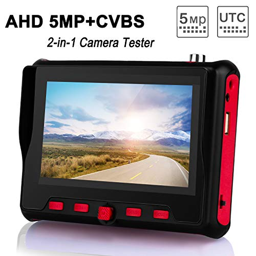 Best Price SGEF Wrist CCTV Tester, HD 5MP Portable Camera Tester 5MP AHD CVBS Tester UTC OSD Control...