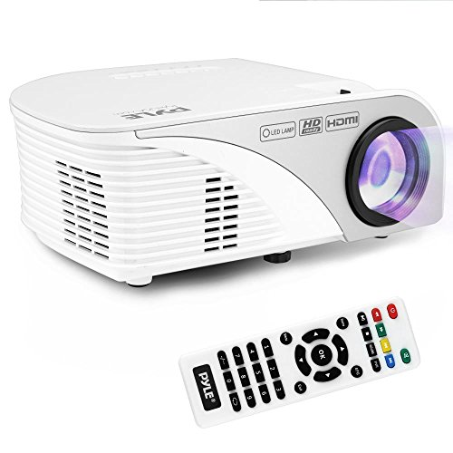 Pyle Video Projector 1080p Full HD Digital Multimedia Mini Home Theater Cinema - Compact, Portable with Remote, LCD Led Lamp Display Screen, HDMI & USB Inputs for TV, Laptop, PC & Computer - (PRJG95)