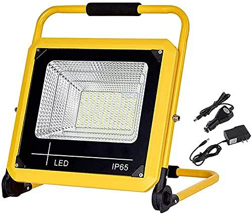 NYZXH Luz de iluminación LED 1500LM, luz de Trabajo Recargable portátil IP65 Luces de construcción Impermeables, 5 Modos de luz Regulable, luz de Emergencia al Aire Libre de 6000k al Aire Libre, 80W