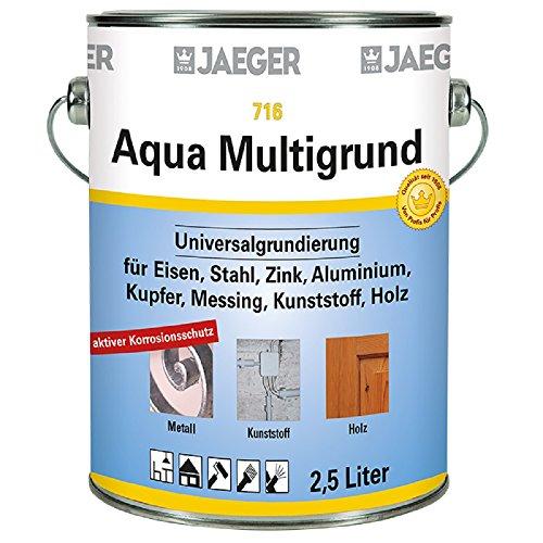 Jaeger Aqua MultiGrunzer universele primer wit 2,5 Liter Wit Ral9010