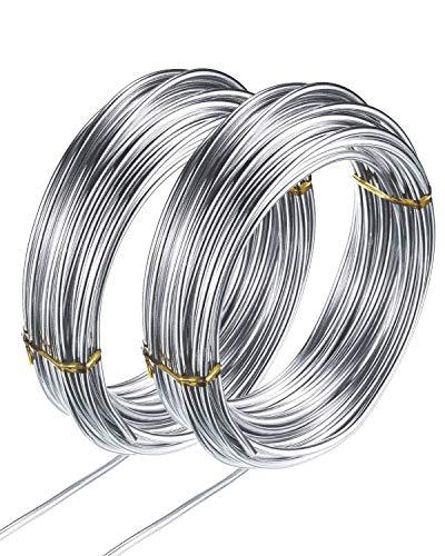 YMWALK Alambre para manualidades de aluminio, 2 rollos de