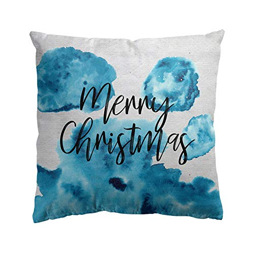 BBQQ Merry Christmas Pillow Cases Super Cashmere Sofa Cushion Cover Home Decor Christmas Decorations Clearance Tree Ornaments Rock Topper Lights Pyjamas for Families